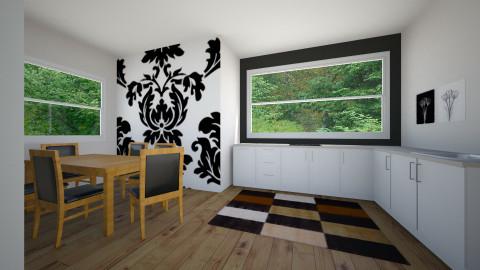 Black Kitchen - Minimal - Kitchen - by beautifulife