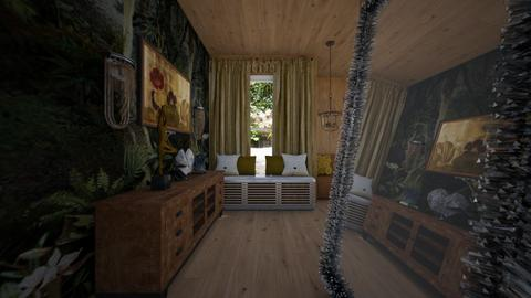 Woodroom2 - Living room  - by rechnaya