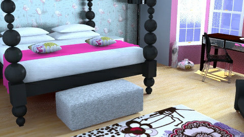 Girly Glamour Bedroom 2 - Glamour - Bedroom  - by kitcatcandy