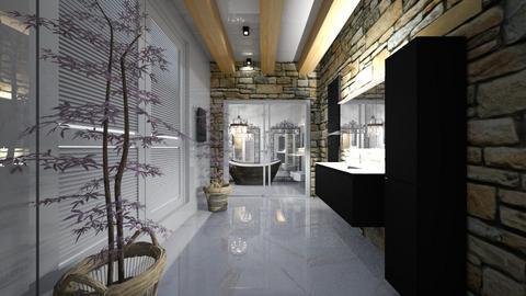 BathRoom_Wood _Stone_Marble - Modern - Bathroom  - by Nikos Tsokos