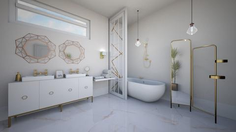 Gold bathroom - Bathroom  - by Victoria_happy2021