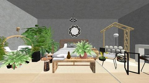 urban room jungle - Bedroom - by Corgi Lover