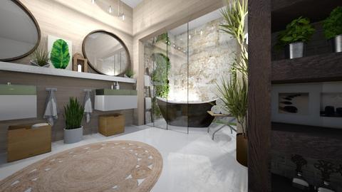 jungle bathroom - Modern - Bathroom  - by Louisa caulton