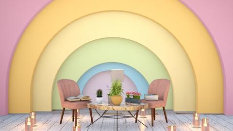 Rainbow Room - Vintage - Living room  - by Pheebs09
