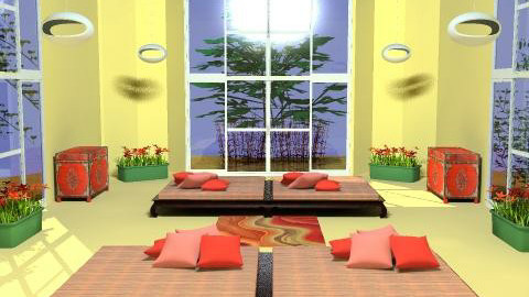 Sunny Office Bldg Atrium - Office  - by SylviaAst