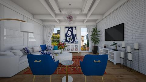 project 65 meters - Living room  - by sarasepideh