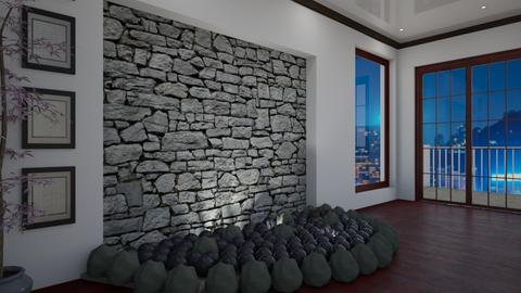 stone  - Modern - Living room  - by vallequeen
