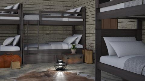My Camp Cabin - Rustic - Bedroom  - by millerfam