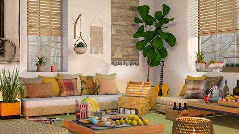 Inside Picnic Party - Eclectic - Living room  - by Sally Simpson