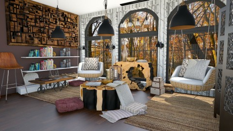 Forest Cozy Reading Room - Rustic - Living room  - by _PeaceLady_