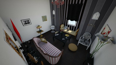 gold_red goth - Living room - by Miss Cronqvist