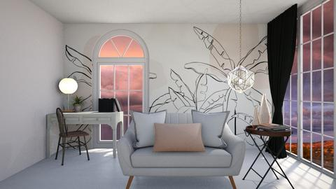 Blush Palm - Modern - Living room  - by KylaTH