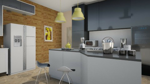 yellow - Modern - Kitchen  - by Mi Hipolito