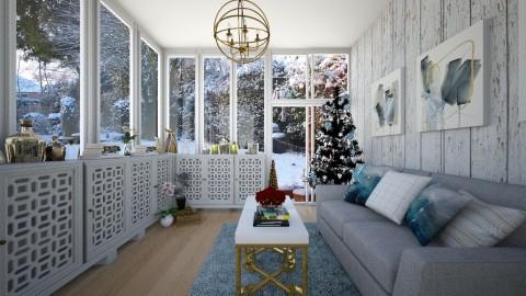 Winter Sun Room - Garden  - by niidurose