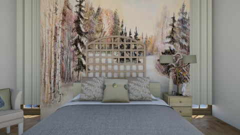 Bedroom l Homely - Rustic - Bedroom  - by Jhiinyat