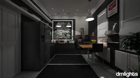 black kitchen - Modern - Kitchen  - by DMLights-user-982918
