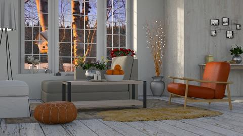 Autumn Frost - Rustic - Living room  - by millerfam