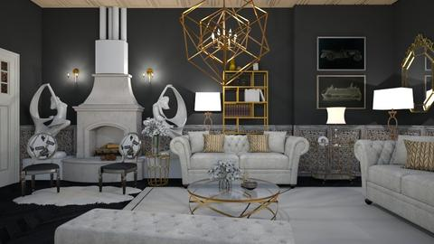 art deco living - Living room  - by snjeskasmjeska
