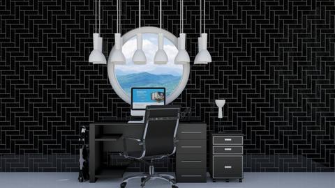 Sleek Black Office CR - Office  - by weinsteinkids