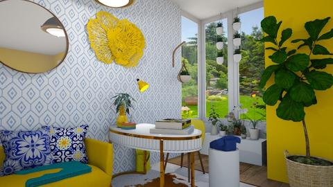 Blue and Yellow Office - Modern - Office  - by annalwys