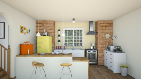 Cozinha  - Retro - Kitchen  - by rebeca_scmoraes