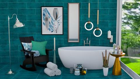 douche turquoise - Modern - Bathroom  - by rimanina