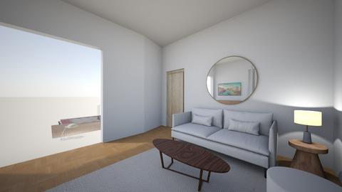 Living room rug white 6 - Living room  - by MarikaMV