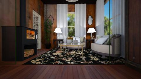 TINY HOME COTTAGE DR - Feminine - Living room  - by decordiva1