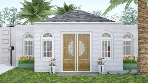 white brick home - Garden  - by 32103sarah