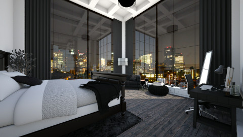 City Bedroom - Modern - Bedroom - by StienAerts