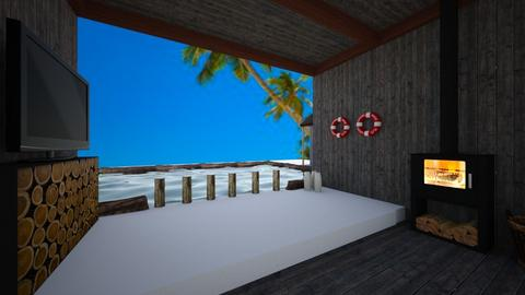 Modern Beach Hut - Living room  - by Riordan Simpson