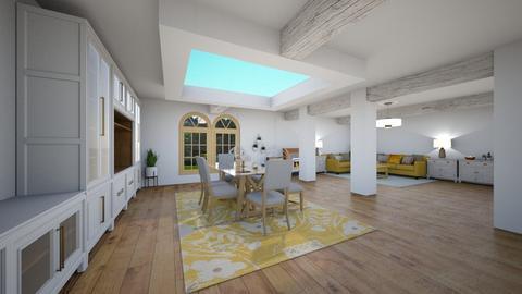 Yellow living - Living room - by Loopsyloo