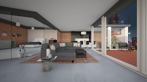 Winter Loft - Living room - by Darcy Tooka Dunham
