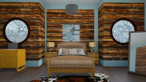 cozy cabin bedroom - Rustic - Bedroom  - by jria8