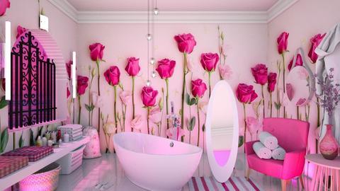 Floral walls - Bathroom - by HebaAdil10