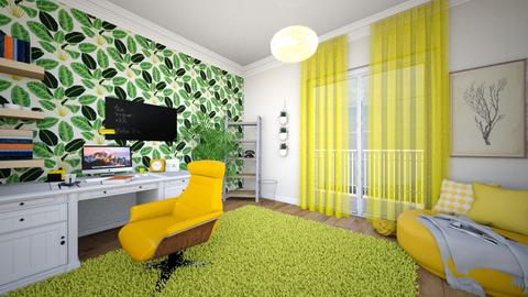 yellow office - Office  - by domi328