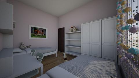 horse white biurko 120 - Kids room - by aska525