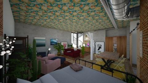 open studio apartment  - by Alexandra Ritchey