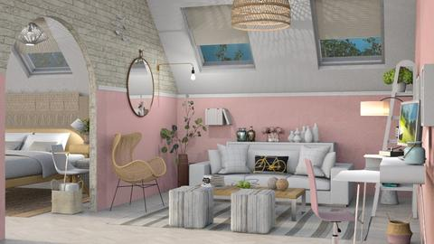 M_ Attic - Living room  - by milyca8