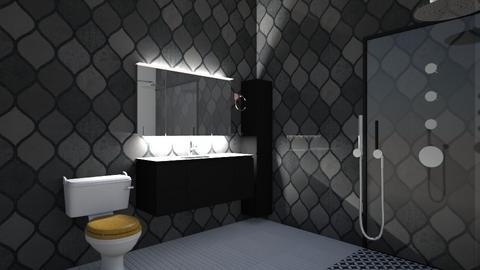 Black Bathroom - Bathroom  - by llama_555