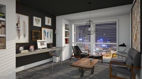 dark and wooden - Office  - by mayssa ltf