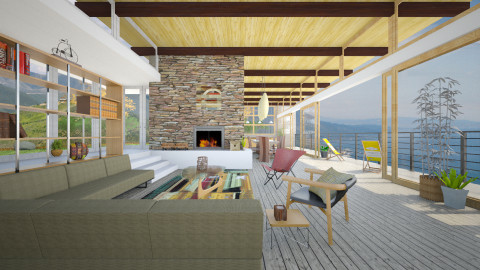 Neutra in Big Sur - Modern - Living room  - by russ