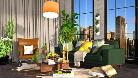 green - Living room - by borjan