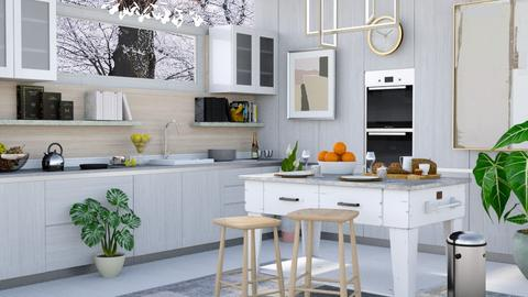 Winter Kitchen - Modern - Kitchen  - by millerfam