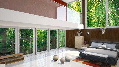 Bed Room in forest - Bedroom - by Noella Louisy