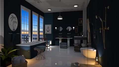 Nautical Bathroom - Bathroom  - by Sue Bonstra