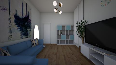 5_Casa_cu_trepte_living - Living room  - by Catalina Iacob