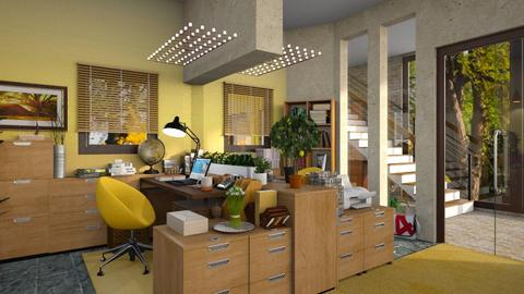 Yellow Working Space - by ZsuzsannaCs
