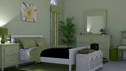 sage green bedroom 01 - Office  - by nat mi