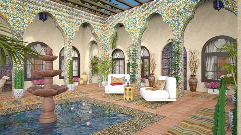 Design 513 Moroccan Courtyard Corner - Garden  - by Daisy320